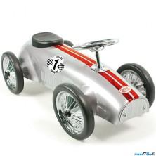 Odrážedlo kovové - Historické závodní auto, stříbrné (Vilac)