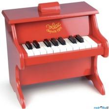 Hudba - Klavír dětský, Červený (Vilac)