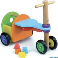 Odrážedlo - Třikolka dřevěná s vhazováním (Vilac)