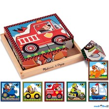 Kostky obrázkové 16ks - Dopravní prostředky (M&D)