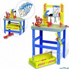 Malý kutil - Pracovní stůl, Ponk se stavebnicí (Vilac)