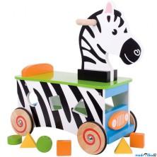 Odrážedlo - Zebra s vhazovačkou (Bigjigs)
