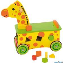 Odrážedlo - Žirafa s vhazovačkou (Bigjigs)