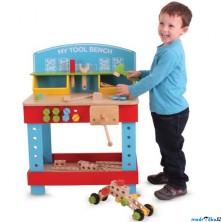 Malý kutil - Pracovní stůl, Ponk se stavebnicí (Bigjigs)