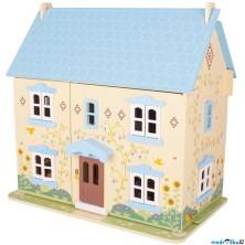 Domeček pro panenky - Modrý s vybavením (Bigjigs)