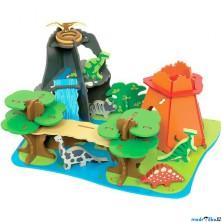 Tématický set dřevěný - Ostrov dinosaurů (Bigjigs)