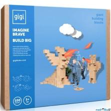GIGI Bloks - Kartonové kostky, Obrovské XXL, 100ks