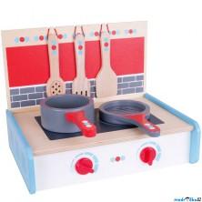 Kuchyň - Vařič dětský s přílušenstvím (Bigjigs)