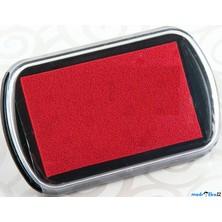 Razítkovací polštářek - Velký, barva červená