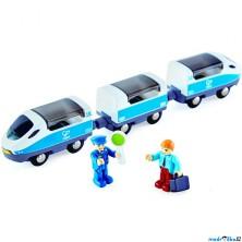 Vláčkodráha vláčky - Vlak Intercity s panáčky (Hape)