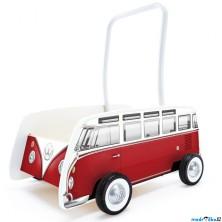 Vozík - Chodítko s madlem, Autobus T1, červený (Hape)