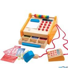 Prodejna - Dětská pokladna dřevěná (Hape)