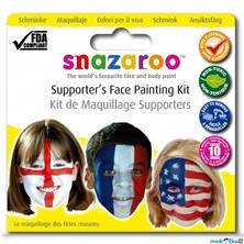 Snazaroo - Sada 3 barev na obličej, Vlajky
