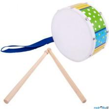 Hudba - Bubínek, S paličkami, Modrý (Bigjigs)
