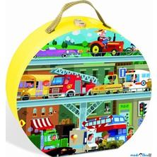 Puzzle z kartónu - Dopravní prostředky, 100 dílků (Janod)