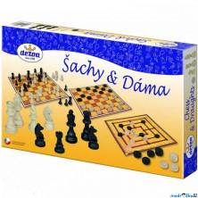 Společenské hry - Šachy s dámou a mlýnem (Detoa)