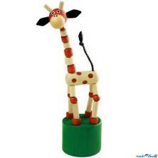 Mačkací figurka - Žirafa přírodní (Detoa)