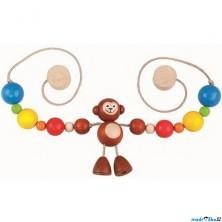 Řetěz do kočárku dřevěný - Opice (Detoa)