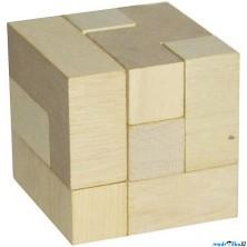 Hlavolam dřevěný - Kostka 3D přírodní (Detoa)