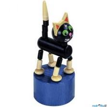 Mačkací figurka - Kočka černá (Detoa)