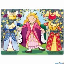 Puzzle oblékání na desce - Šatní skříň princezna, 8ks (M&D)
