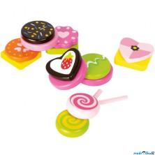 Dekorace prodejny - Set dřevěných sladkostí (Legler)