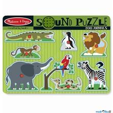 Puzzle muzikální - ZOO divoká zvířata, 8ks (M&D)