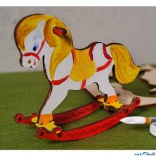 3D model k vybarvení - Koník houpací (Ugears)