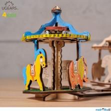 3D model k vybarvení - Kolotoč (Ugears)