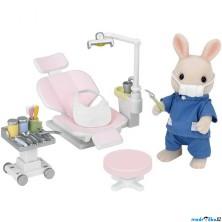 Sylvanian Families - Set, U zubaře s příslušenstvím a králíčkem