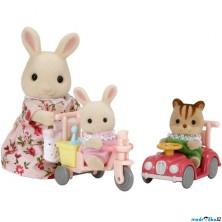 Sylvanian Families - Set, Maminka bílý králík s hrajícími si mláďátky