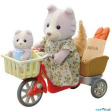 Sylvanian Families - Set, Psí rodinka na kole