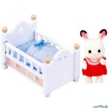 Sylvanian Families - Set, Miminko čokoládových králíčků s dětskou postýlkou
