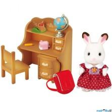 Sylvanian Families - Set, Sestra čokoládových králíčků se stolkem