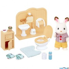 Sylvanian Families - Set, Bratr čokoládových králíčků na toaletě