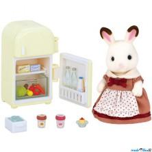 Sylvanian Families - Set, Maminka čokoládových králíčků s ledničkou
