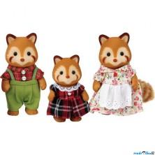 Sylvanian Families - Rodina pand červených, 3ks