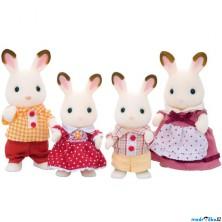 Sylvanian Families - Rodina králíčků čokoládových, 4ks