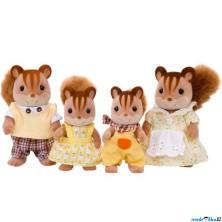 Sylvanian Families - Rodina veverek oříškových, 4ks