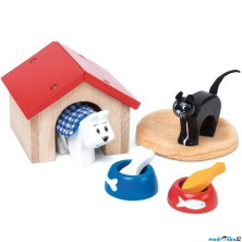 Nábytek pro panenky - Set pro pejska a kočičku (Le Toy Van)