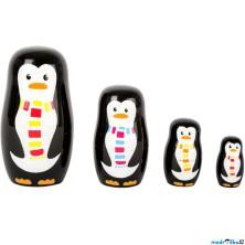 Dřevěná hračka - Matrjoška, Tučňáčí rodina (Legler)