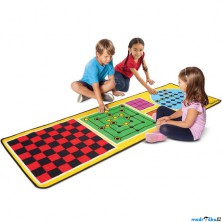 Dětský koberec - 4 hry + 36 dřevěných komponent (M&D)