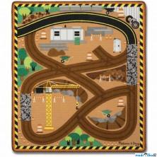 Dětský koberec - Stavba + 3 dřevěné autíčka (M&D)