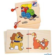 První knížka - Mašinka, 4 dřevěné listy (Woody)