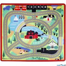 Dětský koberec - Farma + 4 dřevěné autíčka (M&D)