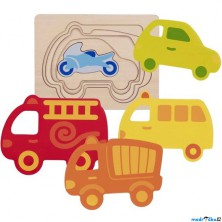 Puzzle vícevrstvé - Dopravní prostředky, 5 vrstev (Goki)