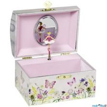 Šperkovnice - Hrací skříňka, Víla na louce (Goki)