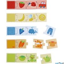 Puzzle výukové - Co kam patří a barvy (Haba)