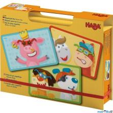 Puzzle magnetické - Kniha, Veselá zvířátka (Haba)