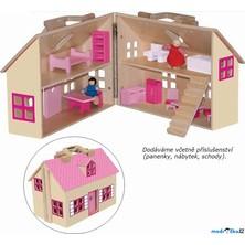 Domeček pro panenky - Domeček v kufříku (Woody)
